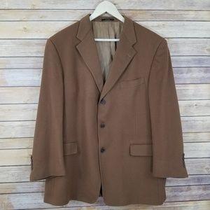 Hart Schaffner Marx 44R 44 Cashmere Blazer Coat